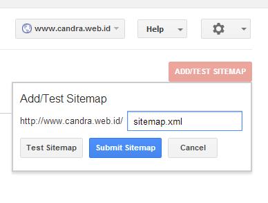 Menambahkan sitemap ke Webmaster tools